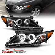 2010-2011 For Toyota Camry R8 Style Led Projcetor Black Headlights