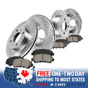 Front And Rear Brake Disc Rotors And Ceramic Pads For Infiniti G20 Nissan Sentra