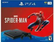New Sony Playstation 4 Ps4 Slim 1tb Console Spider-man Game Bundle