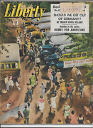 July 1946 Liberty Magazine - Reo Truck Ad - The Annual Outing By Van Scozza