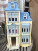 Fisher Price Loving Family Sweet Sounds Victorian Mansion Dollhouse Blue Roof