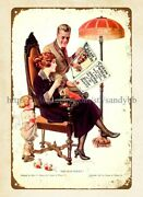 1922 Cream Of Wheat Family Health Insurance Policy Child Metal Tin Sign Wall Art