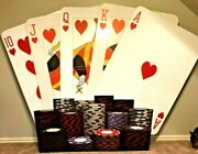 Custom Made Fan Of Cards Hearts Decorative Professional Sports Entertainment