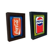 Coke And Pepsi Can 3d Pop Art Soda Sign Collectibles Funny Kitchen Decor Wall