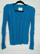 Justice Girls Long Sleeve Turquoise Cable Knit Sweater Size 16 W1533