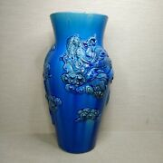 Antique Chinese Turquoise Glazed Moon Porcelain Vases 19th-20th Century.