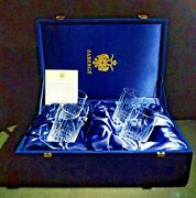 Faberge Atelier Clear Crystal Collection Tall Glasses 5 3/8 H X 2 3/4 W