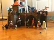 Vintage Playmobil Set 3446 Small Castle 1977 Ghost And Cannon Unit Lot