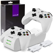 Xbox Controller Charger Stand White Series X One S Gamepad Charging Dock Dual