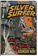 Marvel Comics The Silver Surfer V.1 13 Fn+ Feb.1970 Dawn Of The Doomsday Man