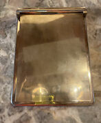 Vintage Halston Note Pad Silver Plate Cover . New York Madison Ave. 1970's Rare