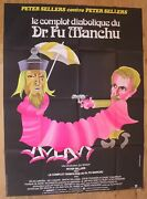 Fiendish Plot Dr Fu Manchu Peter Sellers Original Large French Movie Poster '80