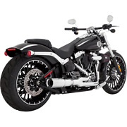 Vance And Hines 16545 - Harley Davidson Exhaust High Output 2-1 Chrome Breakout