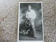 Vintage 1910s Kromo Gravure Photo Movie Picture Star Card Will Rogers 3.5x2.12
