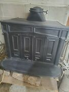 Franklin Wood Burning Stove Fireplace Cast Iron 70s Converted 36