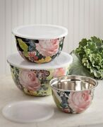Victorian Trading Cabbage Rose Nesting Mixing Bowl Set