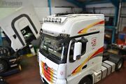 Roof Bar + Leds + Spots + Air Horns For Mercedes Actros Mp4 Bigspace Truck Steel