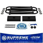 1 Rear Lift 3/4th Pin Blocks With Round U-bolts For 2003-2013 Ram 2500 3500 4wd