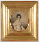 Firmin Massot 1766-1849 Lady On Park Bench Chalk Drawing 1810/15