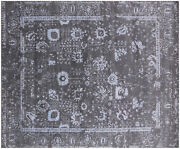 8and039 1 X 10and039 0 Wool And Silk Hand-knotted Rug - Q6200