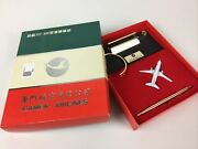 Iamen Airlines Corporate Desk Set With Pen And Small Model Plane 737-500r