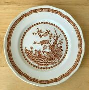 5 Furnivals Quail Brown 5 7/8 Bread And Butter Plates - England - Vguc