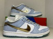 Nike Sb Dunk Low X Sean Cliver Holiday Special Men's Size 9 Dc9936-100 Brand New