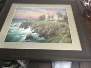 Thomas Kinkade Victorian Light Lithograph 16x20 Signed And Numbered Framedwith Coa
