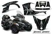 Can-am Brp Spyder Rt 2014-2019 Creatorx Graphics Kit Decals Skull Chief Silver