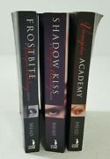 Lot Of 3 Richelle Mead Vampire Academy Paper Back Books Frostbite Shadow Kiss