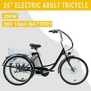 24 Adult Electric Three-wheeled Bicycle 250w F36v 10ah Lithium Battery Trike