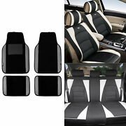 Pu Leather Cushion Seat Covers Pad With Gray Leather Trim Floor Mats For Auto