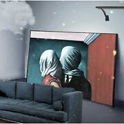 Hand Painted Copy Of Famous Painting Hanging Painting In Living Room Black Frame