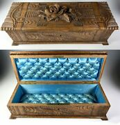 Antique Hc Swiss Black Forest Glove Or Document, Jewelry Box, 12.5 Long