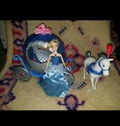 Disney Cinderella Light Up Doll With Transforming Pumpkin Carriage And Horse