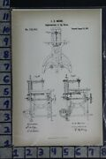 1871 Moore Lawrence Ma Jig Saw Sawmill Lumber Wood Industry Patent Litho 118041