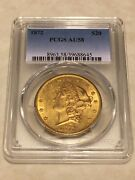 1872 Au58 Pcgs 20 Liberty Double Eagle Gold Coin Almost Ms Rare Tough Date