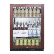 Summit Scr610blpnr 24 One Section Beverage Center With Glass Door 5 Cu.ft