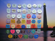 48 Year Collection Barnegat  Light New Jersey Beach  Badges