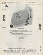 1962 Glaser Steers Gs-77t Record Player Changer Service Manual Photofact Diagram