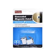 Prestige White Concealed Magnetic Catch - 2x4=8 Pack