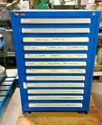 Stanley Vidmar 12 Drawers Industrial Tooling Cabinet Tool Parts 30 X 28 X 44