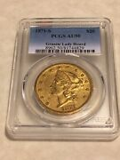 1871-s Au50 Pcgs 20 Liberty Double Eagle Gold Coin Granite Lady Hoard Nice Coin