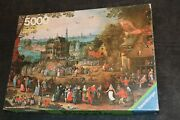 Rare Ravensburger 5000 Piece Puzzle Country Fair Germany 1979 Sealed Factory Bag