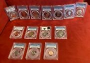 7 Jfk And Various Us Mint Pcgs Coins Cameo Proof Collectibles Wooden Box