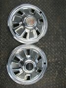 Set 2 1967 67 Pontiac 14 Inch In Hubcaps Wheel Covers Oem Lemans Tempest Gto