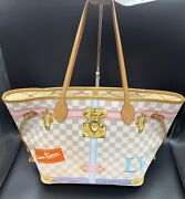 Special Offer 🌸rare Louis Vuitton Neverfull Mm Limited Edition Damier🌺
