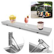 Convenient Serving Shelf For Concession Window Stands And Food Trucks 6 Feet