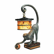 Monkey Lamp Brass With Penshell Shade