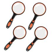 20x4 Pack 75mm Magnifying Glass Hand-held Reading 10x Magnifying Glass
